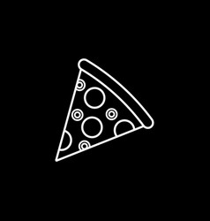 pizza slice line icon food drink elements vector image
