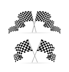 Racing flag avto set vector