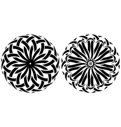 Round ornaments set of tribal vector image