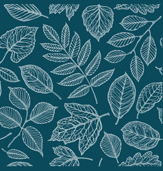 Seamless floral pattern nature leaves backdrop vector