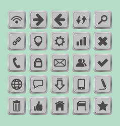 set of social media buttons for design - icons vector image
