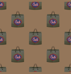 Shopping paper bag seamless pattern vector