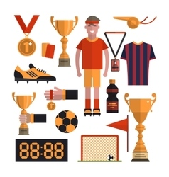 Soccer icons set Football isolated design vector