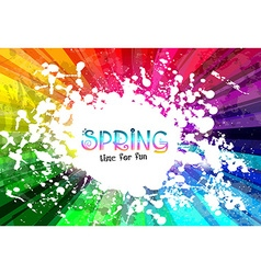 spring colorful explosion colors background vector image
