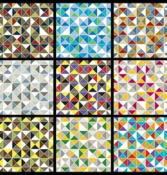 Squared blocks with bright geometric colorful vector