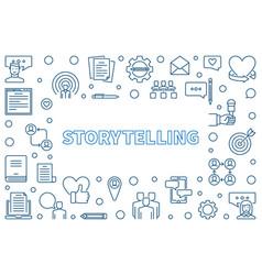 Storytelling horizontal frame in thin line vector