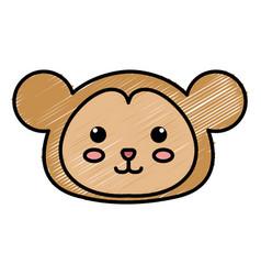 Stuffed animal monkey vector
