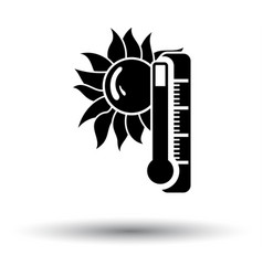 Summer heat icon vector