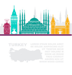 Template leaflets with a map of turkey and vector
