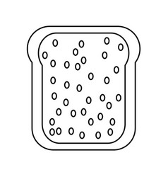 toasted bread loaf vector image vector image
