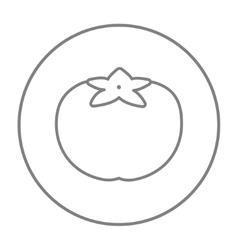 Tomato line icon vector image