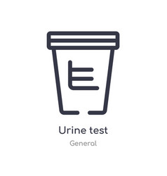 Urine test outline icon isolated line from vector