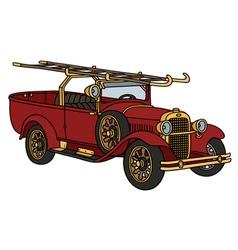 Vintage firetruck vector