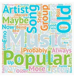 Why Does New Music Suck text background wordcloud vector image