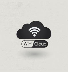 wifi cloud zone vector image