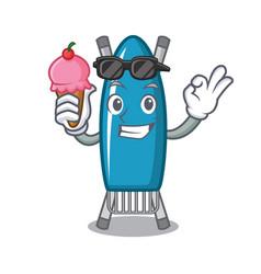 with ice cream iron board character cartoon vector image