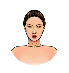 woman before and after makeup vector image