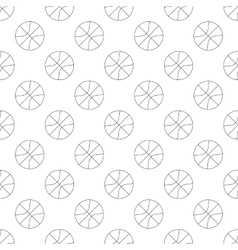 Basketball pattern seamless vector image vector image