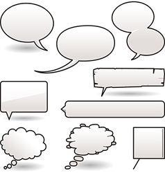 cartoon speech balloons vector image vector image
