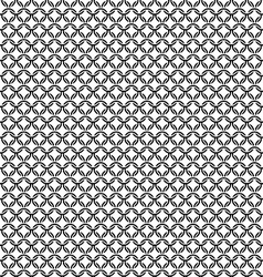 Chain armor black circle elements seamless pattern vector image vector image