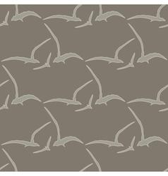 Gull seamless pattern vector image