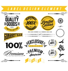 Label Design Element vector image