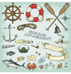 Sailing Collection vector image
