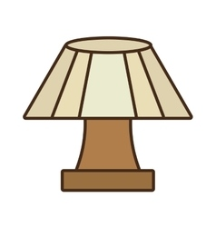 table lamp house appliance decorative vector image