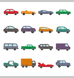 Car collection icon vector image vector image