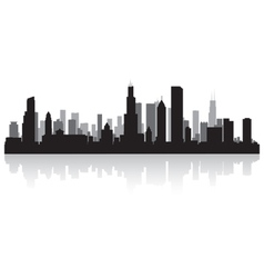 Chicago USA city skyline silhouette vector image vector image