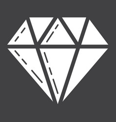 Diamond glyph icon business and finance gem sign vector