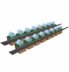 houses on blocks vector image