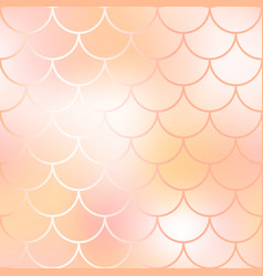 Mermaid fish scale pattern background gradient vector