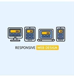 Responsive Web Design Concept vector image vector image
