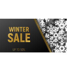 winter sale banner template in trendy fashion vector image