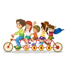 Family fun vector image vector image
