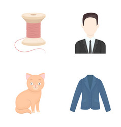 fashion business hairdresser and other web icon vector image vector image