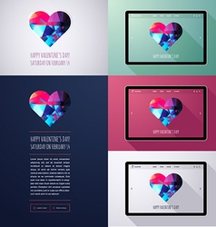 Happy Valentines Day Posters vector image