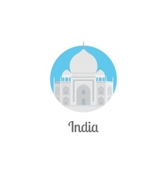 India landmark isolated round icon vector image