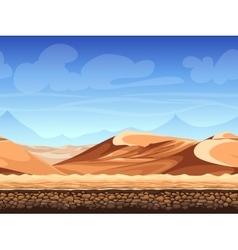 seamless background desert vector image