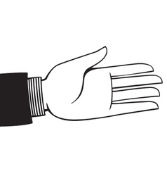 extended hand vector image