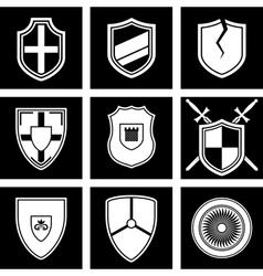 shields icon vector image