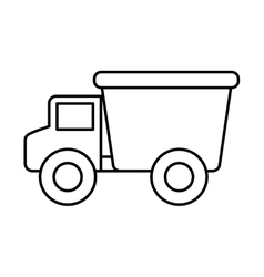 truck baby toy icon vector image