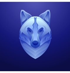 Vintage wolf label retro design graphic vector