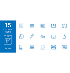 15 plan icons vector
