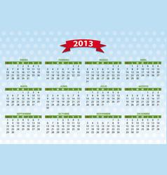 2013 spanish calendar vector image