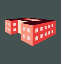 A school building vector