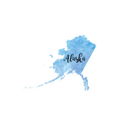 Abstract alaska map vector