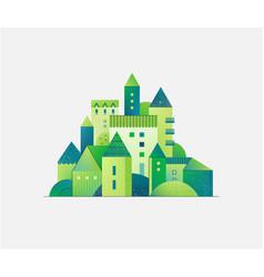 Abstract green city building composition vector