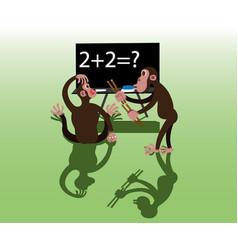 Animal intelligence test vector